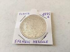 1 pièce de 5 F en argent Hercule 1875 A