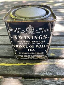 Vintage Twinings Prince of Wales Tea Can