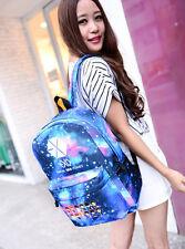 K-POP EXO LUHAN KRIS LAY Galaxy Pattern Canvas Shoulder Bag Backpack School BaMR
