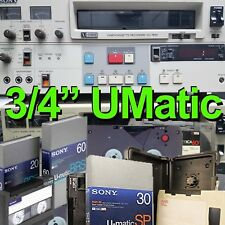 "3/4"" U-Matic SP to DVD VCR Video Tape Reel Digitizing Transfer Sony Ampex 3M"