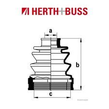 HERTH+BUSS JAKOPARTS Achsmanschetten Satz MAZDA 626 II III vorne GETRIEBESEITIG