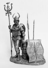Tin toy soldier Gallic warrior 1 cen. BC. Metall sculpture 54 mm