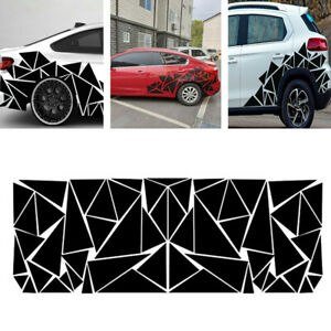 Triangle Vinyl Car Stickers Art Decoration Side Body Decals Graphics Waterproof