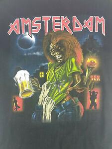 Vintage Iron Maiden Amsterdam Graphic T-Shirt Medium