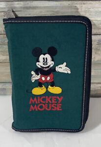 Disney Store Mickey Mouse Zipper Closure Planner Organizer
