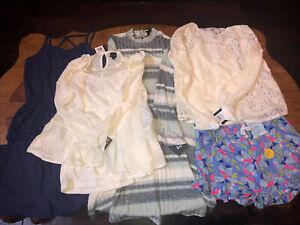 NWT Lot Of 5 Girls Jumpsuit/Tops/Art Class Cat & Jack Shorts Size L 10/12 Large