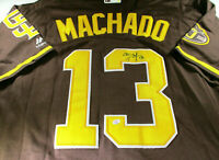 MANNY MACHADO /  SAN DIEGO PADRES / AUTOGRAPHED PRO STYLE BASEBALL JERSEY / COA