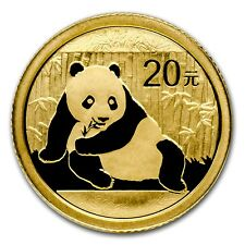 CH/GEM BU 2015 1/20 OZ. GOLD CHINESE PANDA COIN SEALED 1/20 OUNCE