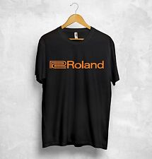 Roland Logo T Shirt Music Systems Audio Audiophile Retro Synthesiser Analogue