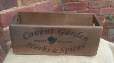 COVENT GARDEN HERBS & SPICES wooden storage box, Fab gift hamper/ in your home.
