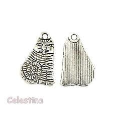 10 antique silver Alice au pays des merveilles Cheshire Cat charmes-LF CF 20mm