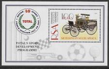 SOUTH AFRICA 1997 TOTAL OIL MOTOR SPORT GOLF CRICKET FOOTBALL Souv Sheet MNH