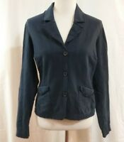 Womens Navy Blue LEVI's Distressed Blazer Jacket Cotton Size Large