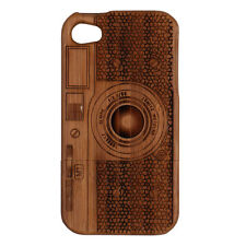 High Quality Classic Texture Wooden Phone Case Cover For iPhone 4 4S