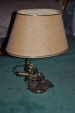 Ancienne lampe électrique ovale - Abat-jour - Pied travaillé - Old electric lamp