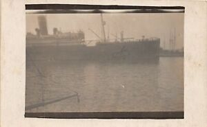 H60/ Ship RPPC Postcard Itlaian Ship Hit Hole in Hull c1920   121