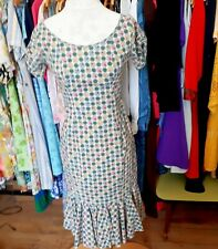True vintage cotton Summer Dress Size 8 stunning. 80s 90s