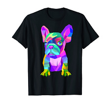 Cute French Bulldog, Colored Dog Breed Design T-Shirt