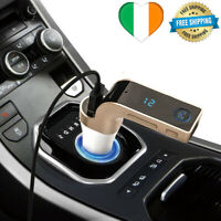 Voiture Kit Chargeur Bluetooth FM Transmetteur Mains Libres Sans Fil MP3 USB CP