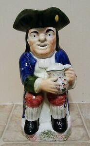 ANTIQUE TOBY JUG STAFFORDSHIRE POTTERY PORTOBELLO TYPE ENGLISH POTTERY 1700'S