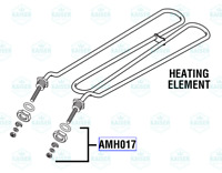 Heating Element Assembly AMH016 for Amsco/ Steris Dynaclave 613R (576A)