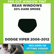 Pre Cut Window Tint - Dodge Viper 2006-2012 - 20% Dark Rear