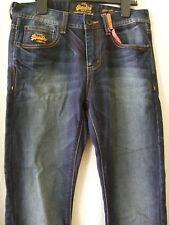 "Superdry 30"" Waist 32"" Leg Dark Blue Standard SKINNY Jeans"