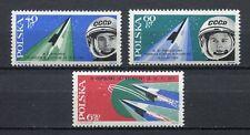 35703) POLAND 1963 MNH**Bykovski Tereshkova 3v Scott#