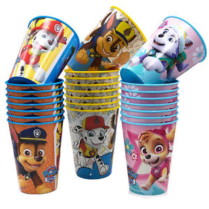 Paw Patrol Trinkbecher 24 Stück Sparpack Ideal für Party und Kindergeburtstag