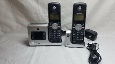 Motorola L403 DECT 6.0 Cordless Phone Digital Answering System w/ 2 Handsets