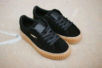 PUMA RIHANNA BLACK GUM SUEDE CREEPERS FENTY TRAINERS ALL SIZES 3 4 5 6 7 8