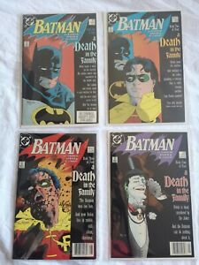 Batman 426 427 428 429 Death in the Family Set 428 signed by Mignola in F-VF