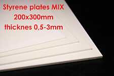5x Styrene Plate Plastics 200x300mm MIX Building Material RC Build Tamiya Axial