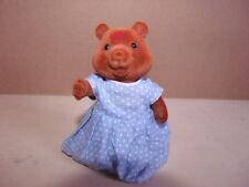 Simba Bärenwald Hamster Mädchen blaues Kleid mit weißen Punkten Figur 9cm