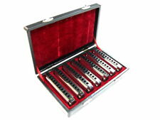 HARMONICA BOX SET 7 Diatonic Blues Harmonicas  Deluxe Case Cloth