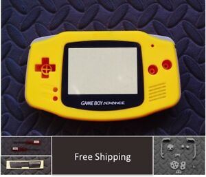 GBA Nintendo Game Boy Advance Replacement Housing Shell Screen Yellow USA!