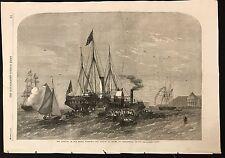 1862 Original Newspaper Print, The Prince of Wales at Alexandria, Egypt