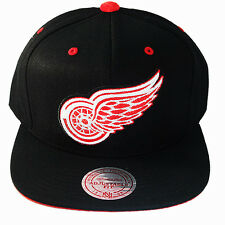 Mitchell & Ness NHL Detroit Redwings Snapback Hat Velour Logo Under Visor Cap