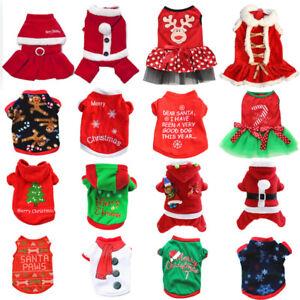 Christmas Xmas Clothes Pet Vest Dog Cat Puppy Shirt Costumes Jacket Coat Apparel
