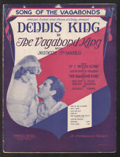 Vagabond King 1930 DENNIS KING/JEANETTE MacDONALD Vintage Movie Sheet Music Q22