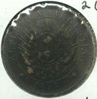 1893 Argentina 2 Centavos