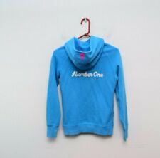 Ivivva Luluelemon 14 Hooded Sweatshirt Blue Thumbloop Girls Number One Patch