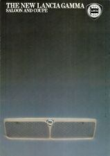 Lancia Gamma 2500 IE 1982-85 UK Market Foldout Sales Brochure Berlina Coupe