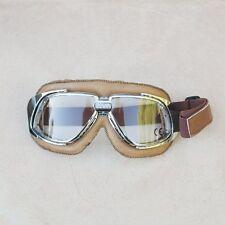 Gafas/Googles/Brille BANDIT simil cuero marrón con cristales transparentes