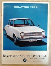 GLAS 1304 BY BMW Car Sales Brochure 1967 FRENCH TEXT