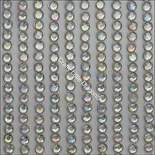 648 x 3mm Aurora Borealis Clear Rhinestone Diamante Stick On Adhesive STRIP GEMS