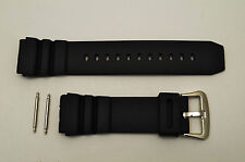 22mm Rubber Watch Band BLACK Fits CASIO AMW320D AD520 MD705 with 2 pins
