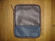 Texto pochette sac ipad  marron + bleu nuit  L 28 H 22 P 2 cm neuf