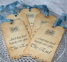 HAPPILY EVER AFTER - Wedding Wish Tree-Gift Tags-Favours-Vintage Style-Set of 10