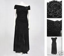 NEW Zaftique VELVET EVENING GOWN Dress BLACK 0Z 1Z 2Z / 14 16 20 / L XL 1X 2X